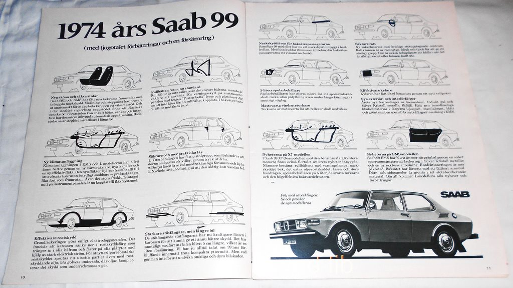 SAAB 99 - 1974 ÅRS MODELL 9dd50f64f0f19