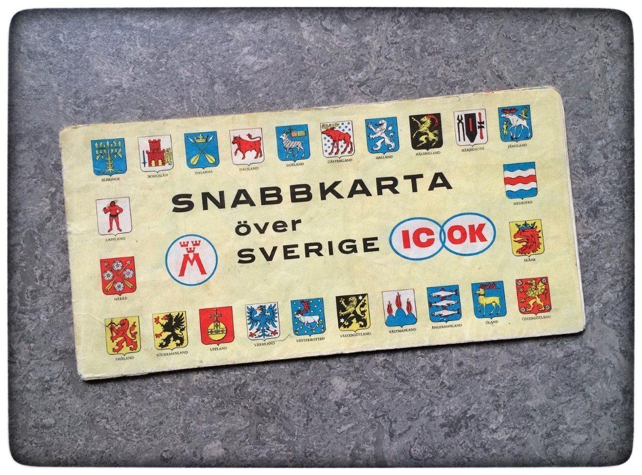 bensin karta IC OK snabbkarta 1962 Sverige karta bensinstati.. (310598868) ᐈ  bensin karta