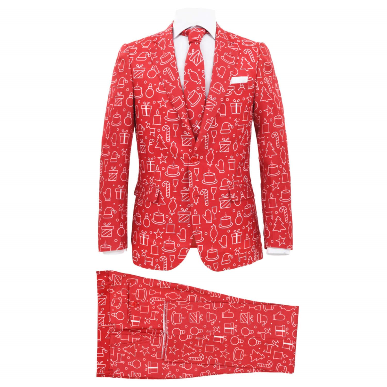 vidaXL Tvådelad julkostym med slips herr .. (332340788) ᐈ vidaXL på ... ae340f4f29586