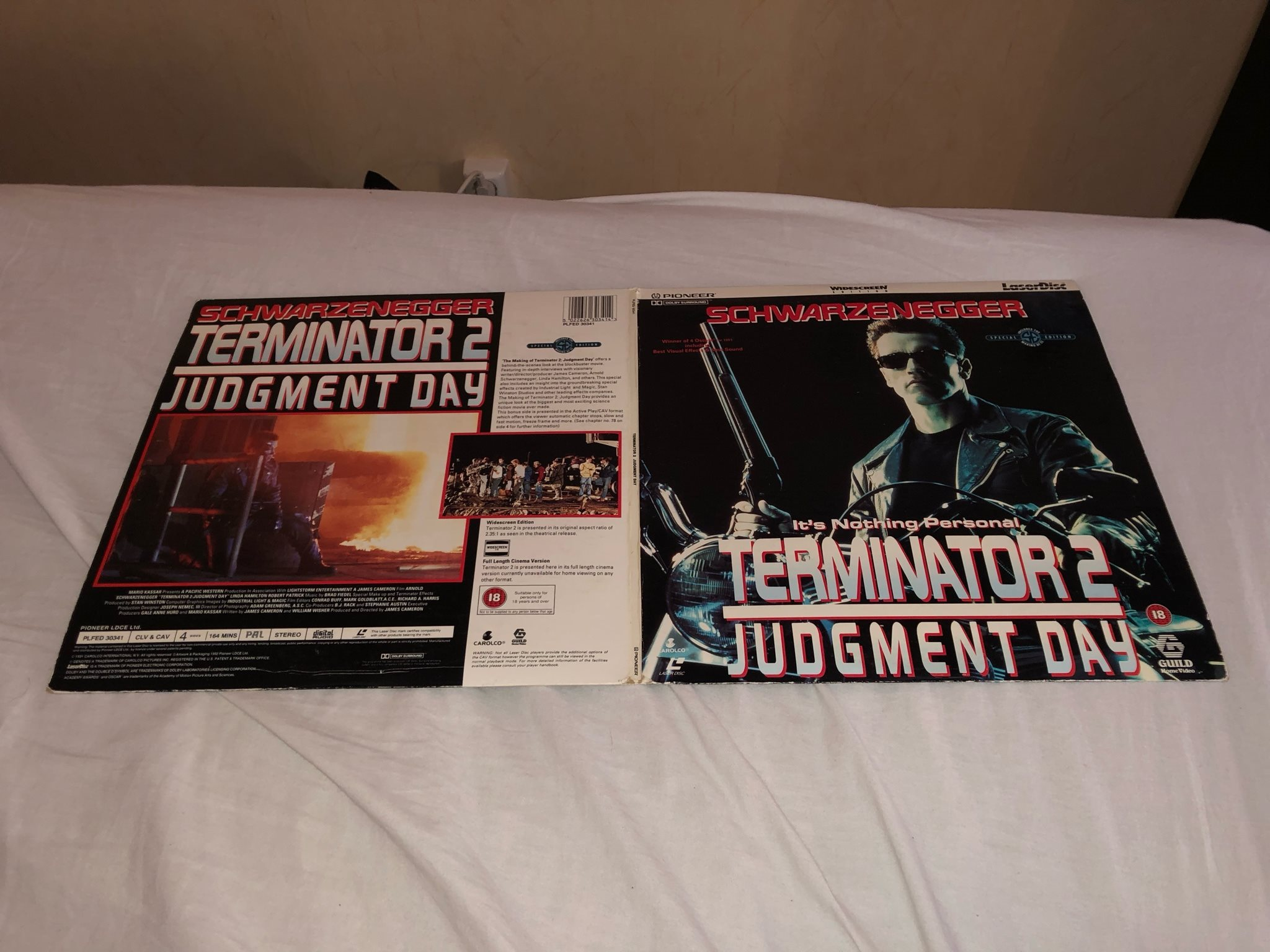 Terminator 2 - Widescreen special edition - inkl making of 2st PAL Laserdisc