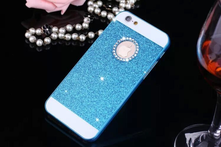 Glitter Case iPhone 6 - Blå