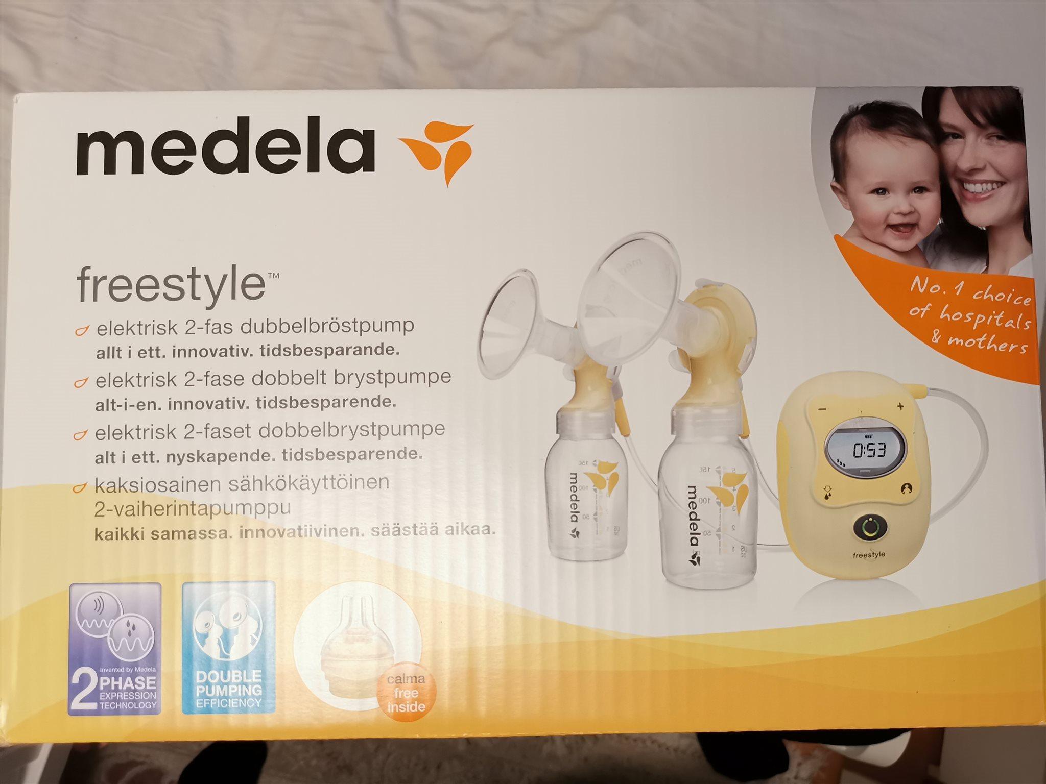 Medela Freestyle elektrisk dubbel bröstpump med.. (334372984) ᐈ Köp ... 37d6d824fa1b8