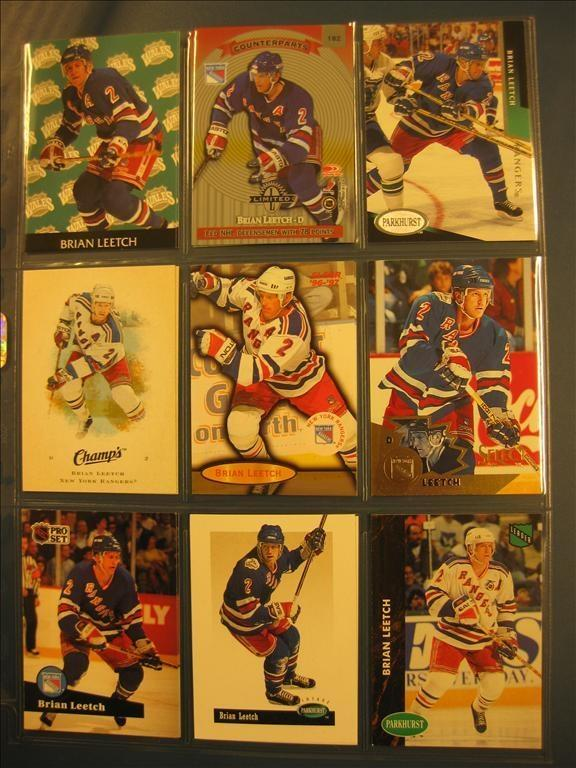 BRIAN LEETCH  -  9 ST BILDER -  LOT 7 - NEW YORK RANGERS