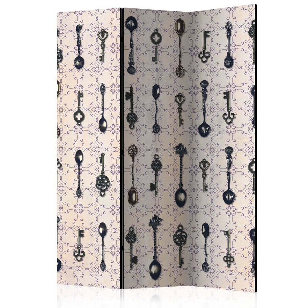 Rumsavdelare - Retro Style Silver Spoons Room Dividers 135x1