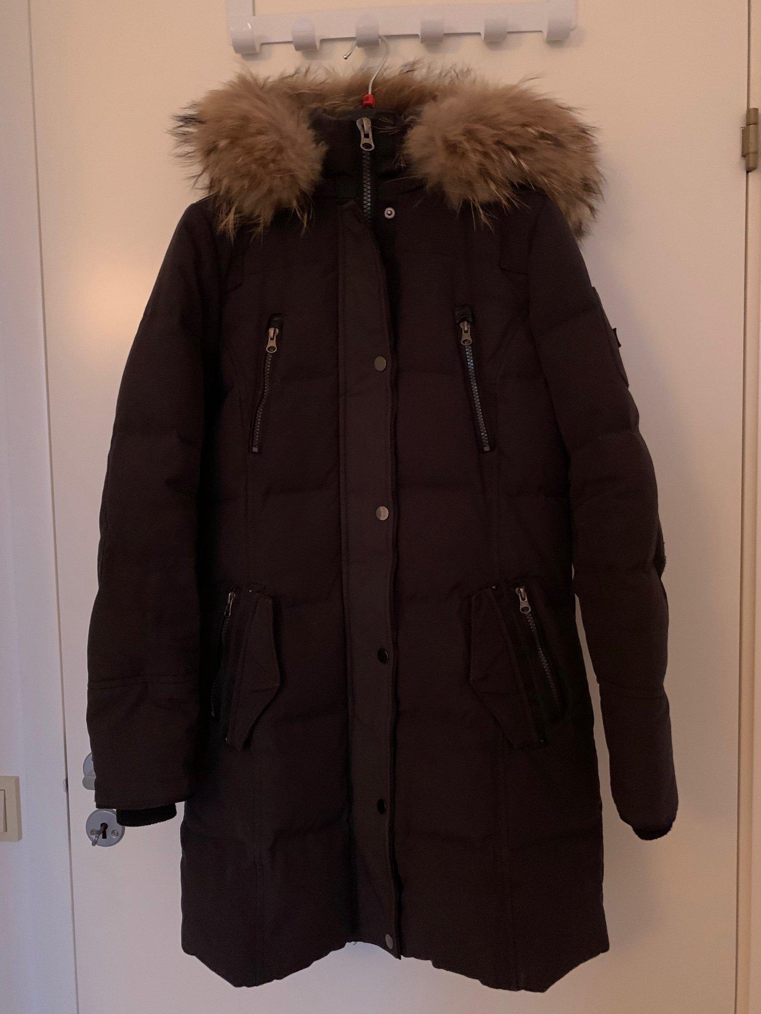 Vinter Jacka Med äkta Päls