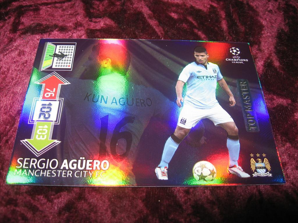 SERGIO AGUERO-MANCHESTER CITY-TOP MASTER-UEFA CHAMPIONS LEAGUE 2012/2013