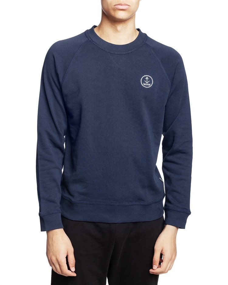 Resteröds Original Sweatshirt Embroidery Navy Medium