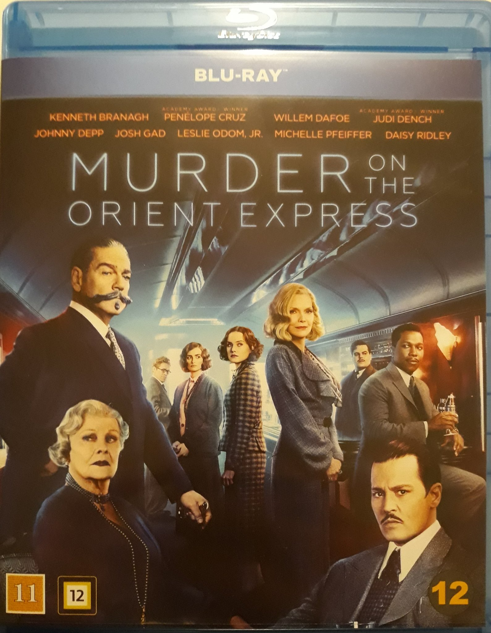 MURDER ON THE ORIENT EXPRESS / MORDET PÅ ORIENT EXPRESSEN 2017 blu-ray