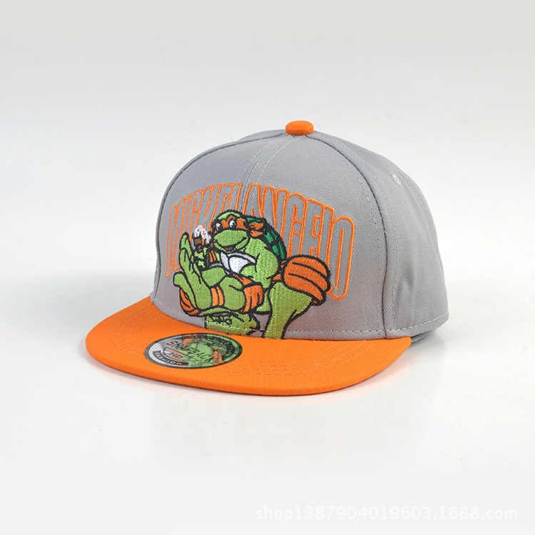 Hat Cap Keps Kepsar Ninja Turtles TMNT Grey Grå Med Orange Skärm - Michelangelo
