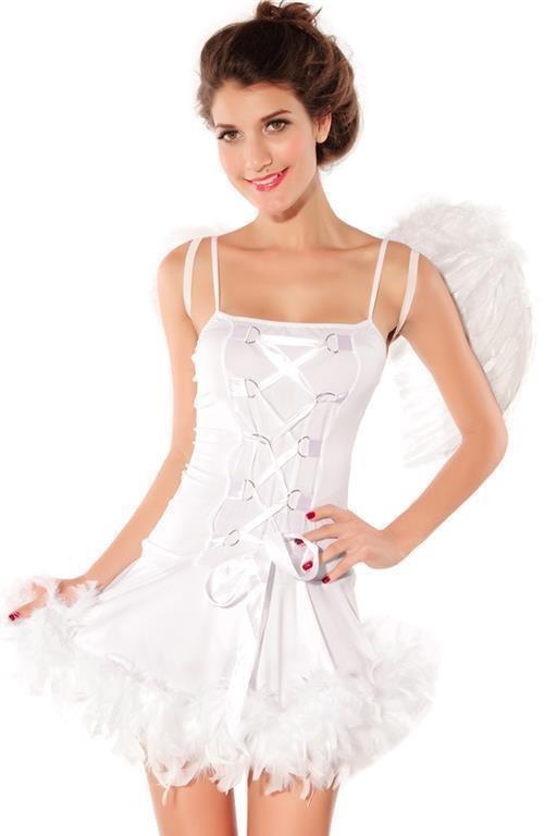 REA! 36 40 - Angel vit ängel med vingar Lo.. (289365695) ᐈ Dozan på ... 4e0341f9574da