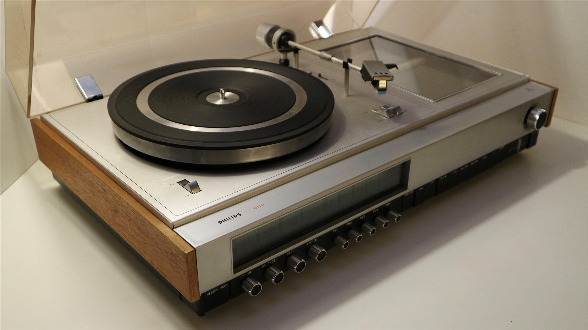 Vintage PHILIPS 802 HiFi Stereo med Skivspelare.. (329218368) ᐈ Köp ... db37529afe697