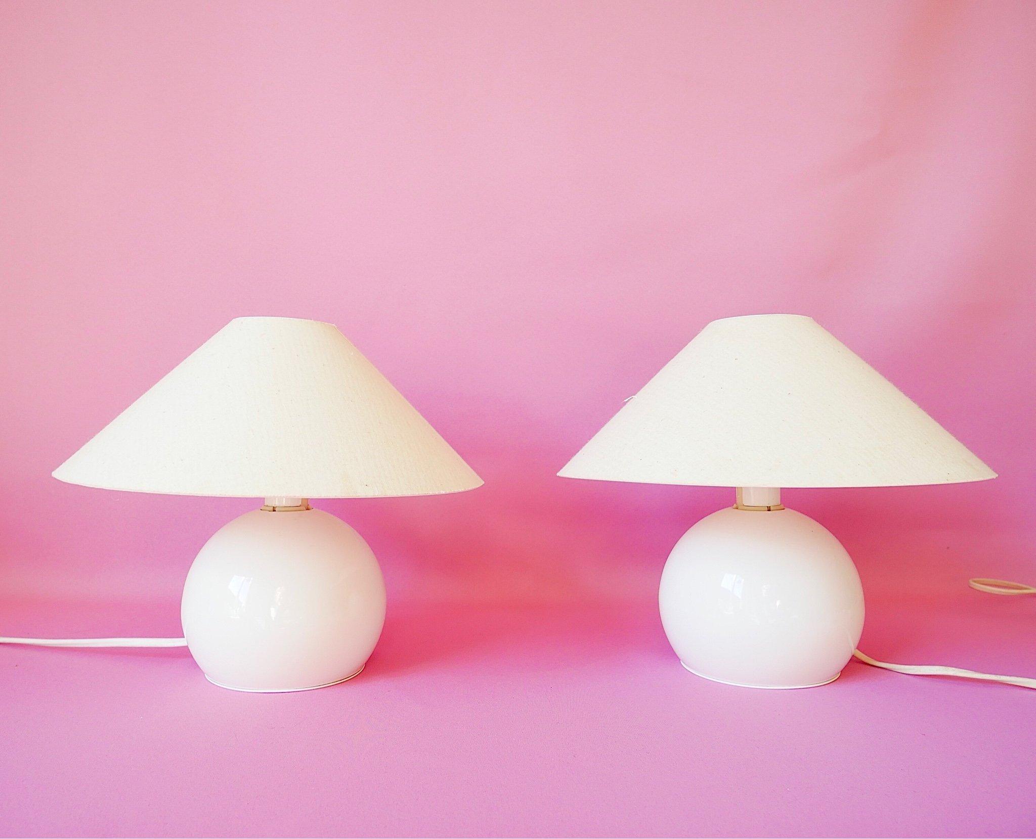 Boll lampa klot kullampa paret retro Ikea 80 90 tal klotlampa svamplampa