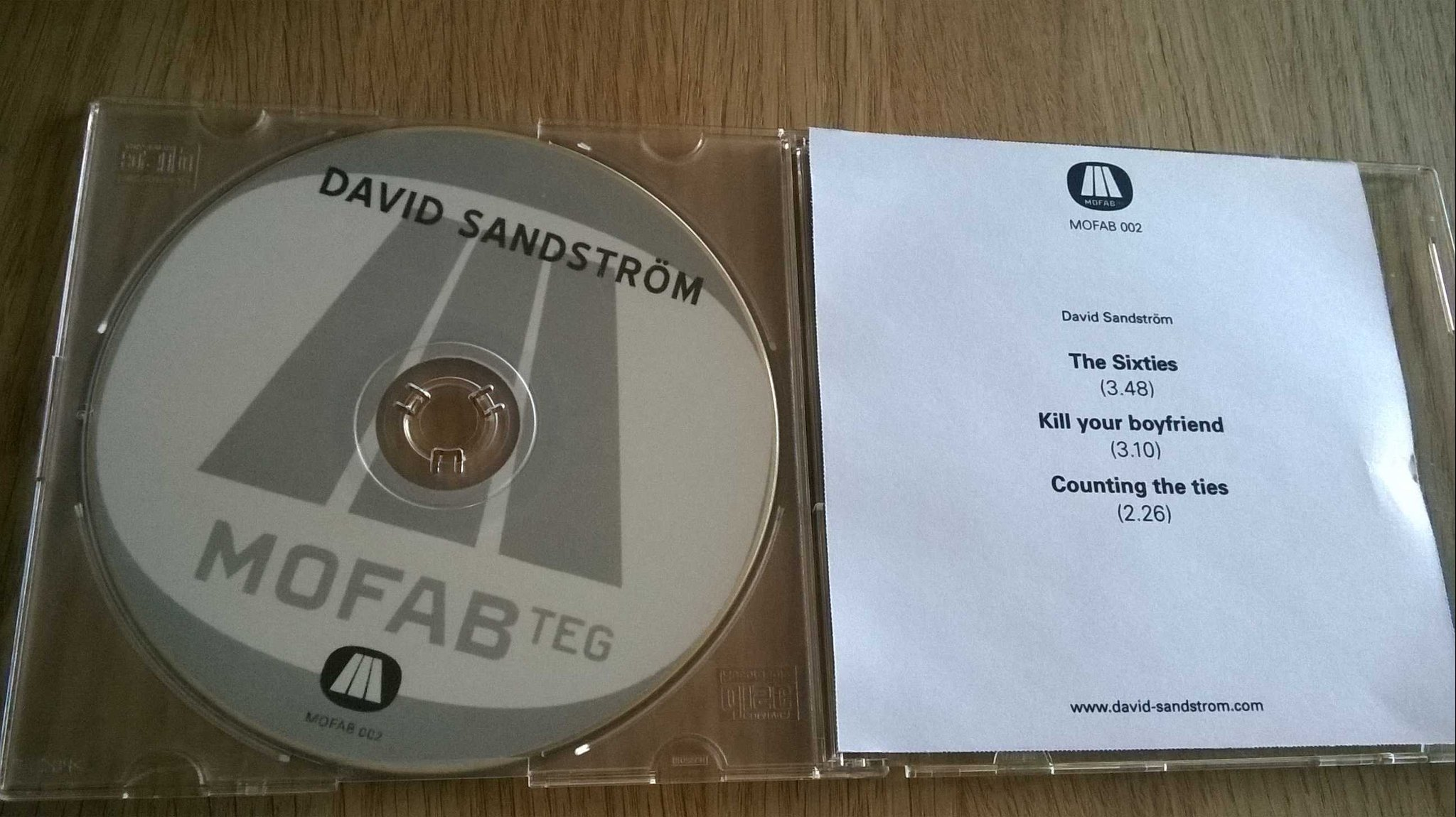 David Sandström - The Sixties Never Actually Happened, CD