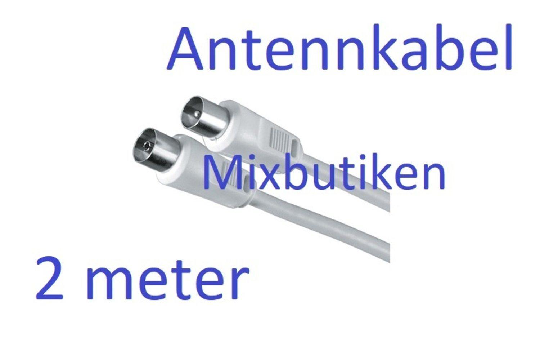 2m Antennkabel /antennsladd /koaxialkabel 75 Ohm. 2 meter raka ...