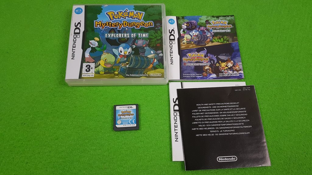 Pokemon Mystery Dungeon Explorers of Time SVENSK KOMPLETT  Nintendo DS