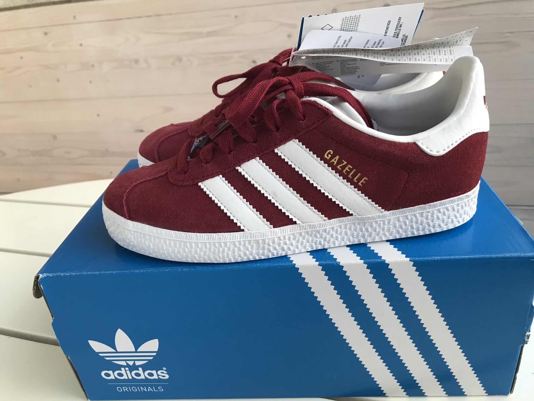 Adidas Originals köpa 2019 Adidas Originals Barn Blå Gazelle