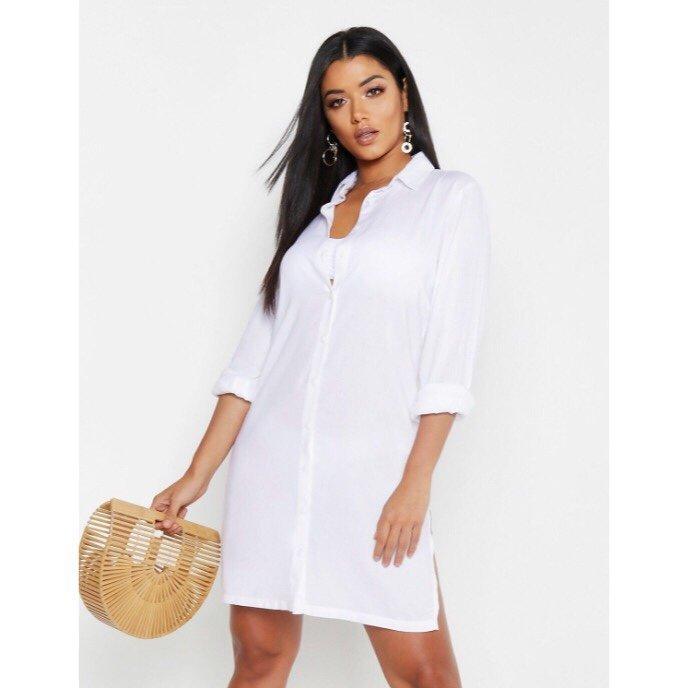 ff71b249c911 BOOHOO Strandklänning - Vit - Strl. S (345961480) ᐈ Köp på Tradera
