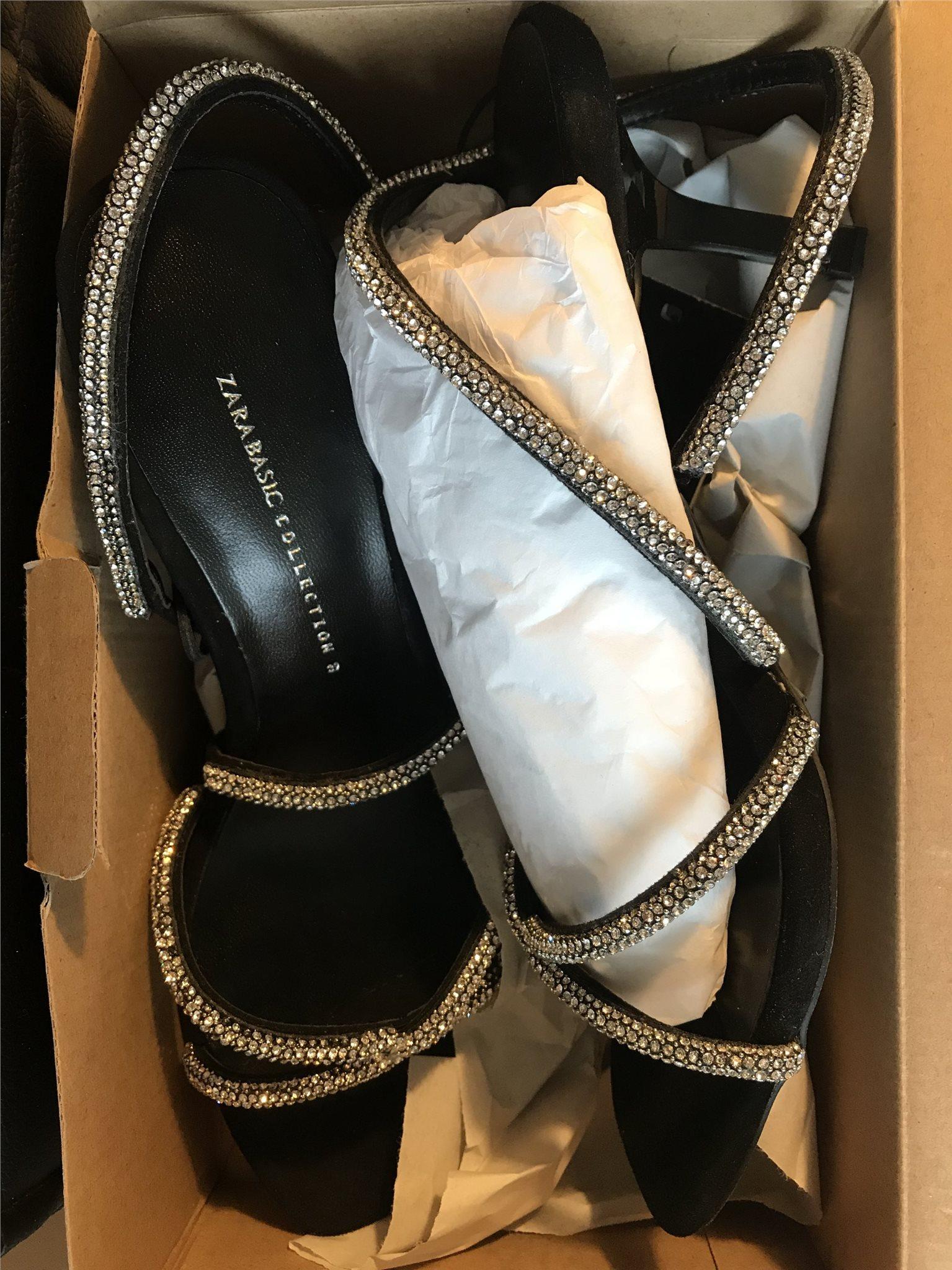 2a6d9d6dfdf Zara sandaletter 38/39 paljetter NYA slutsålda .. (343950127) ᐈ Köp ...