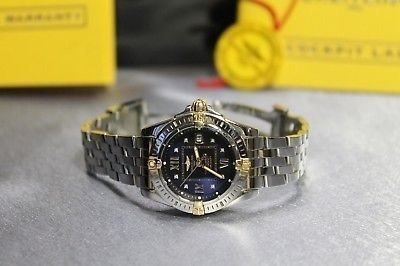 Breitling Windrider Cockpit Lady's Watch SS YG Diamond Blue Dial B71356 damur