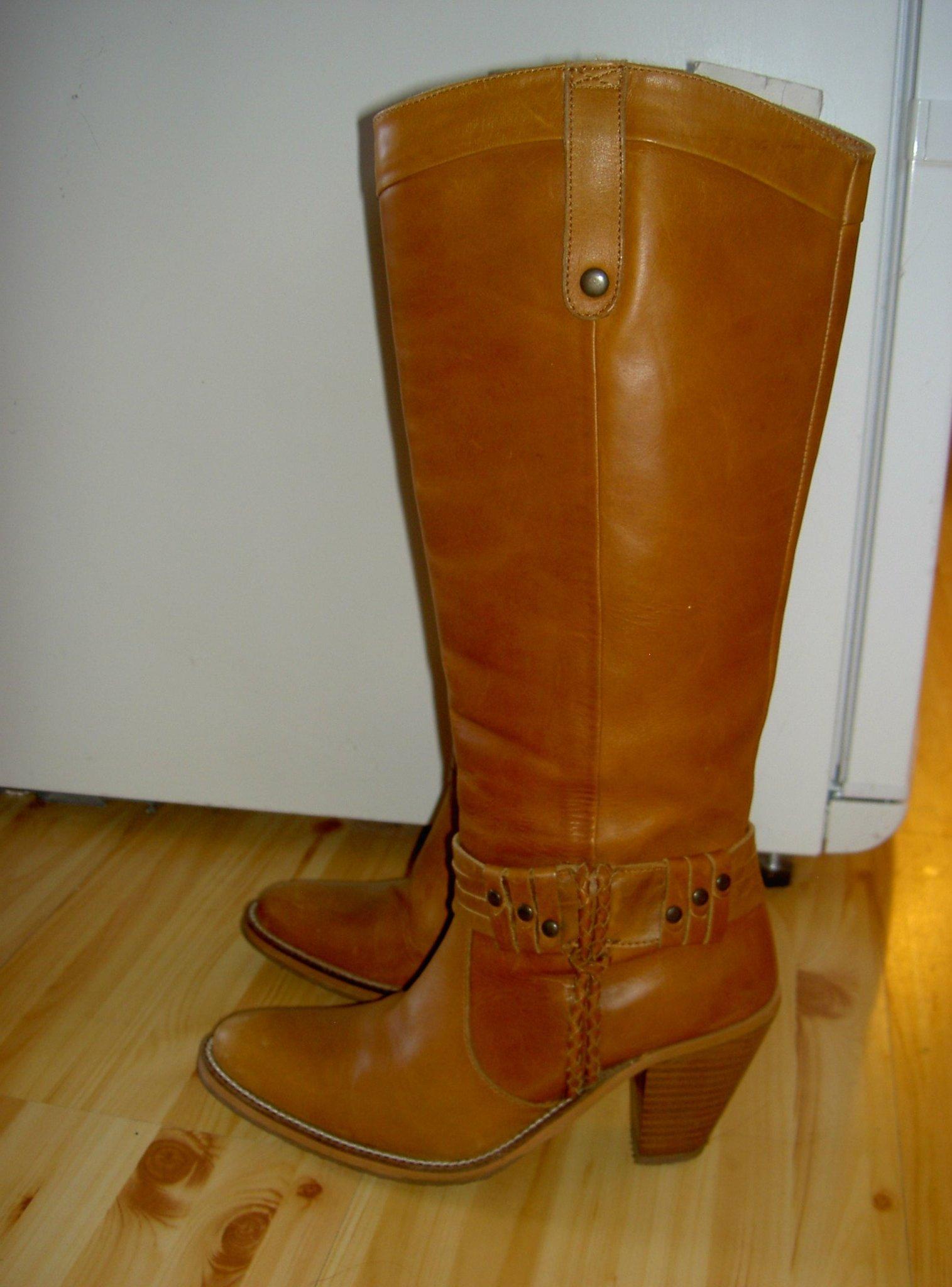 Höga cowboyboots stövlar i läder NowOn Long.. (414040887
