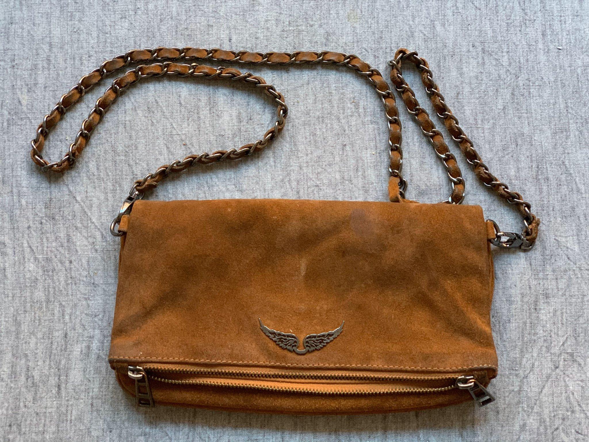 Zadig et Voltaire väska brun mocka