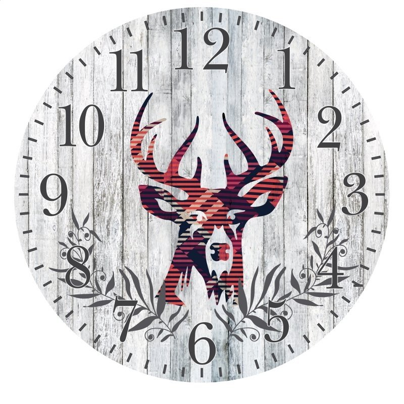 PLATINET CLOCK/WALL CLOCK/DEER