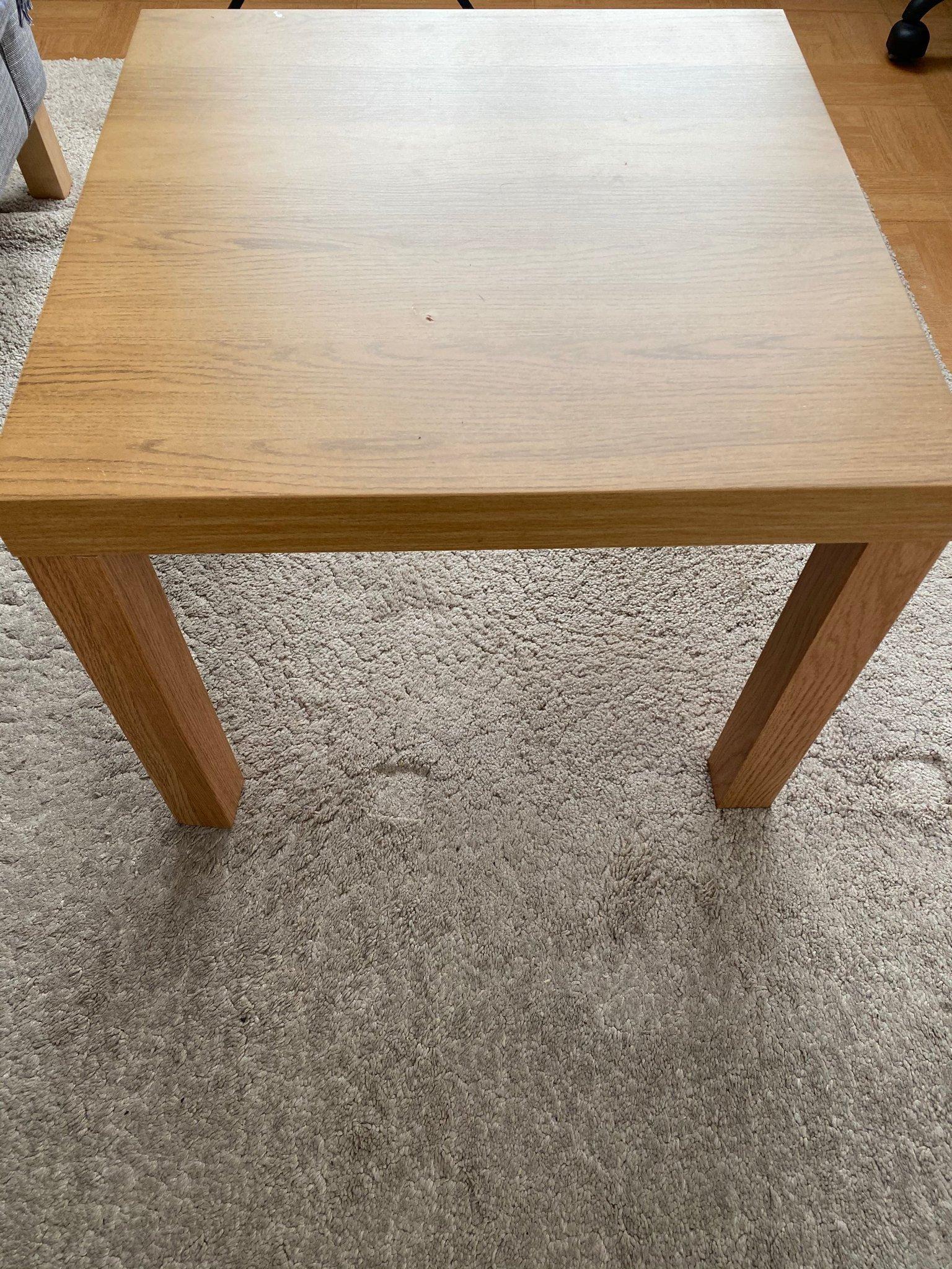 LACK Sidobord, högglans vit, 55x55 cm IKEA
