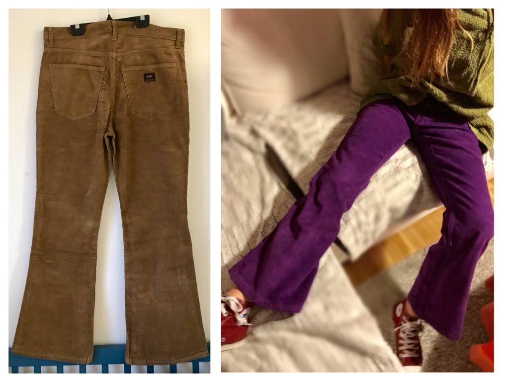 Pop manchesterjeans retro bruna manchester jeans bootcut hippie 70-tal byxa  30 6f54992b169bd