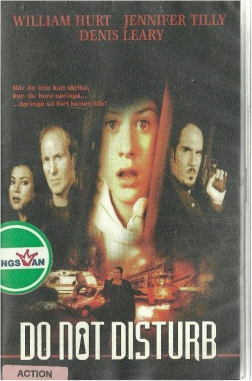 DO NOT DISTURB - WILLIAM HURT  (VHS FILM - SVENSK TEXT )