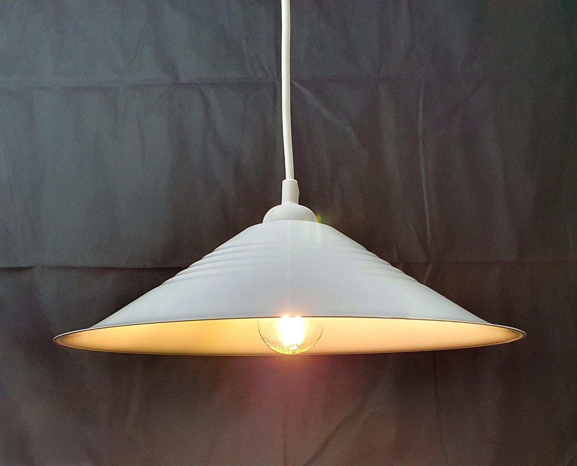 IKEA retro takpendel skomakarlampa i plåt, To.. (416717918