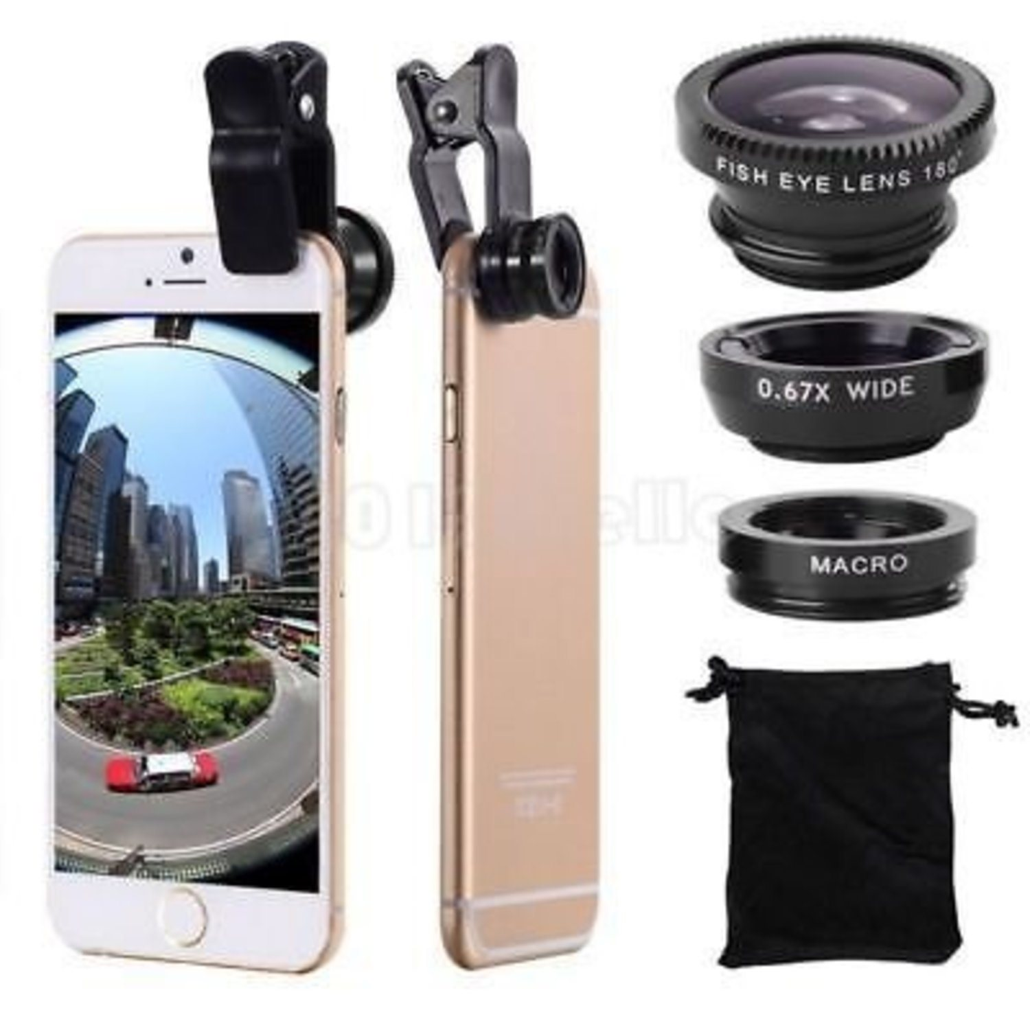 Fashion Cell Phone 3 in1 Fish Eye+ Wi...