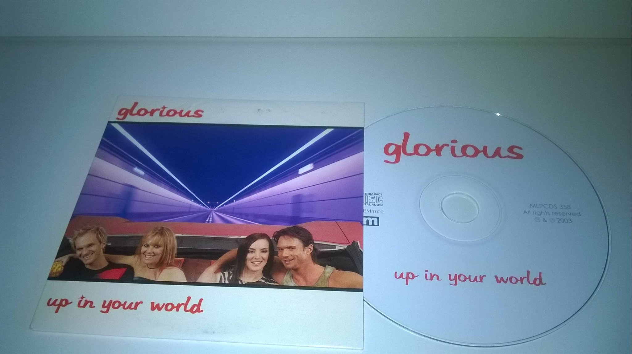 Glorious - Up in your world, single CD