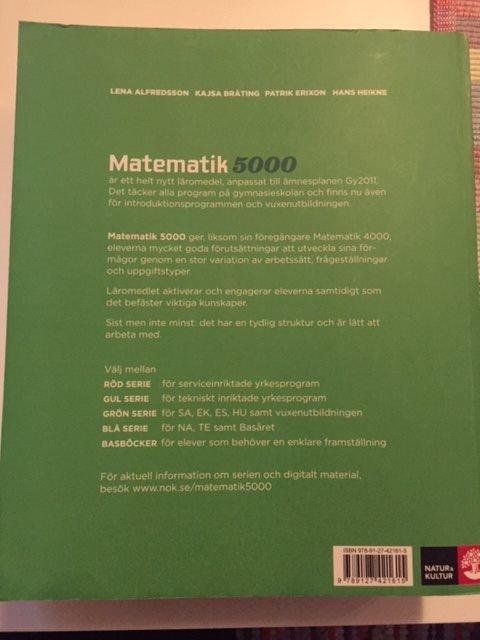 Matematik Matematik Matematik 5000 1b ISBN 978-91-27-42161-5 e957f1