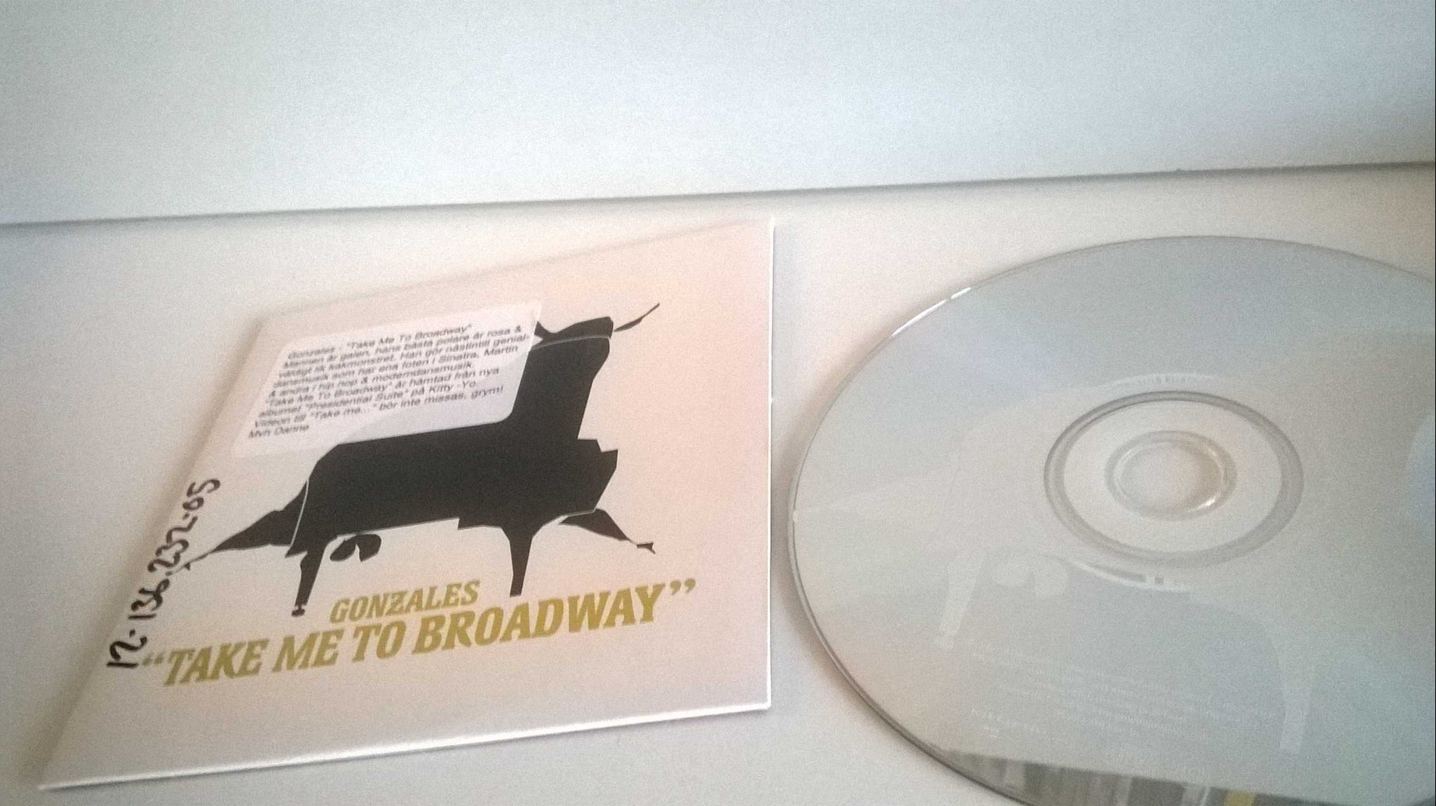 Gonzales - Take me to Broadway, single CD, promo