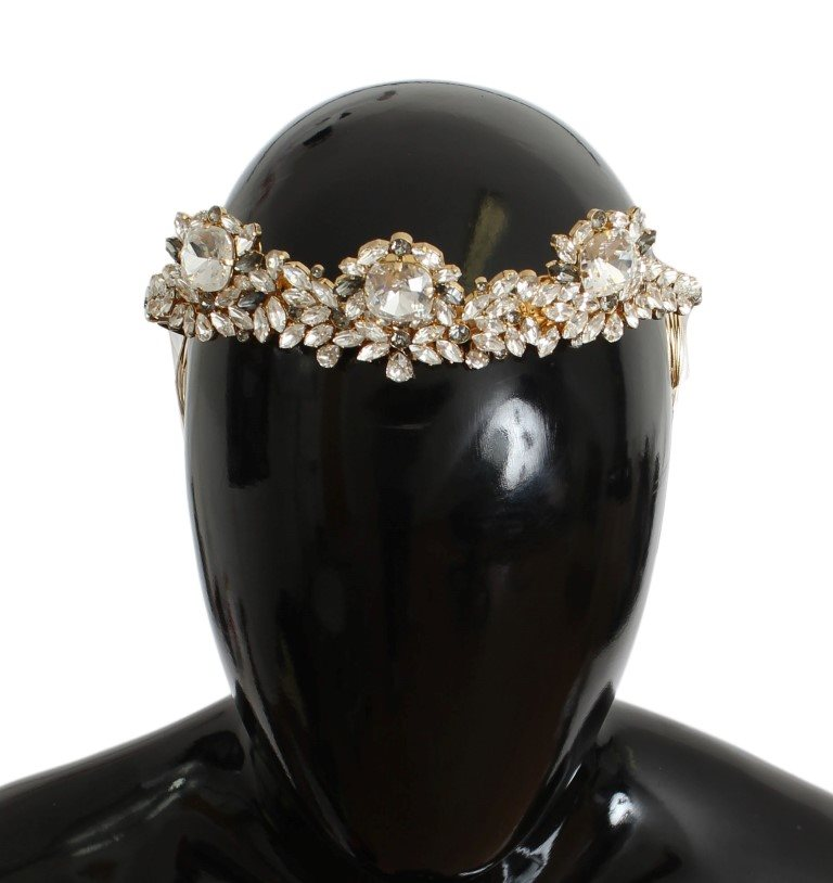 Dolce & Gabbana - Gold Brass Crystal Sicily Diadem NATALE Crown
