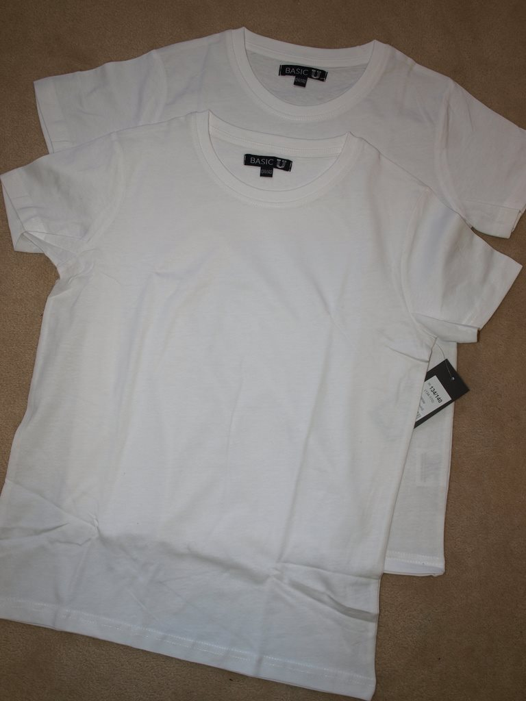 3704c84bc21f Nyhet 2-pack vita bas T-shirt Tröja k.. (338313178) ᐈ KMCMDesign på ...