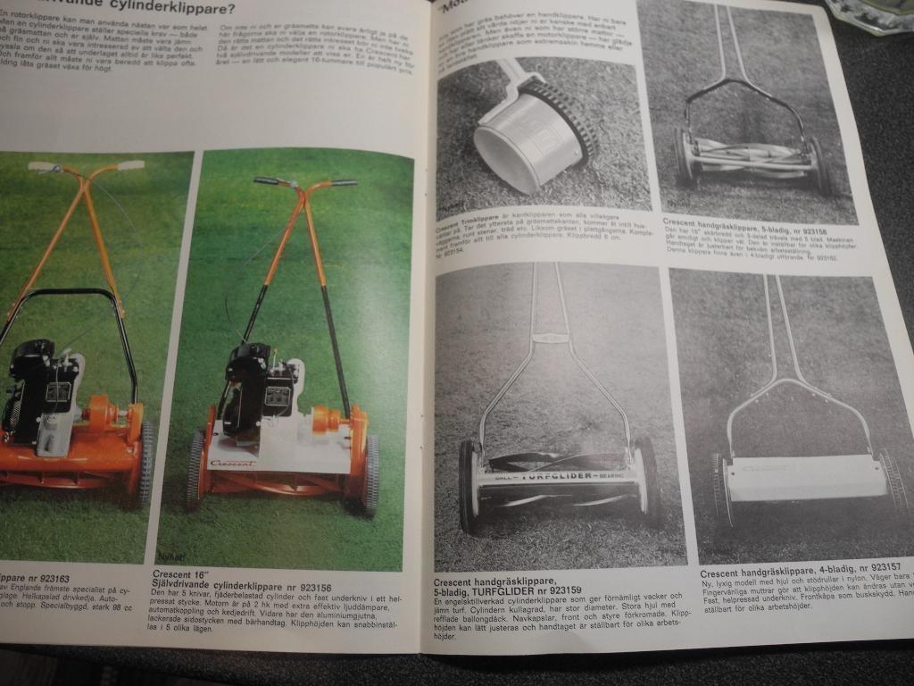 Reklamblad för Crescent gräsklippare. Från 1969. på Tradera.com -
