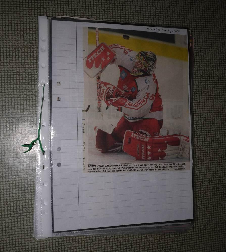 Henrik Lundqvist Hockey Urklipp New York Ranger 307931750 ᐈ Kop