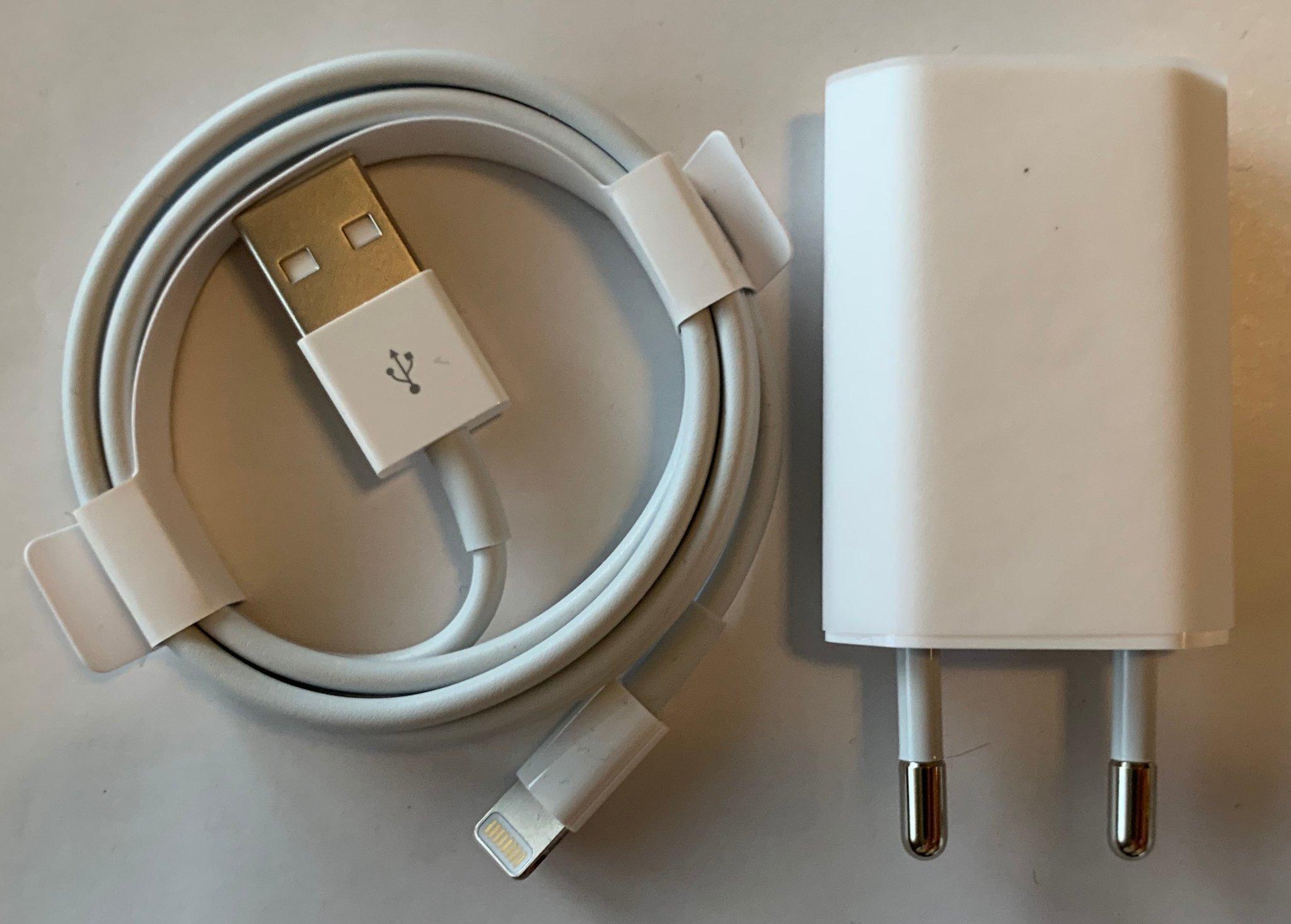 NYA Apple Original 5W adapter iPhoneiPad + Lightning till USB A 1 meter