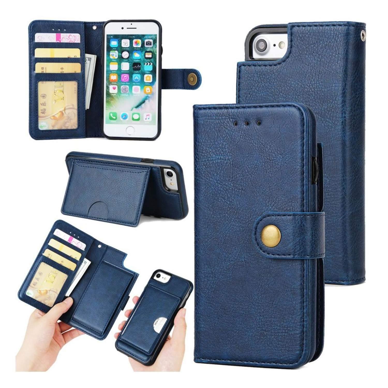iPhone 7   8 Enfärgat läder fodral - Blå (299094458) ᐈ WePack på ... 599c1c9c34669