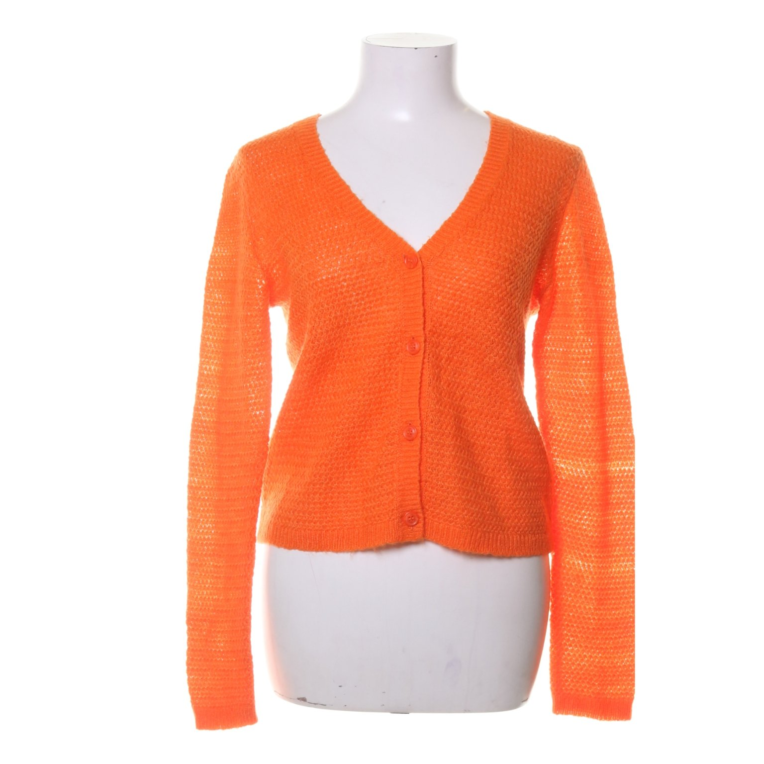 Monki, Kofta, Strl: S, Orange, Akryl/Mohair