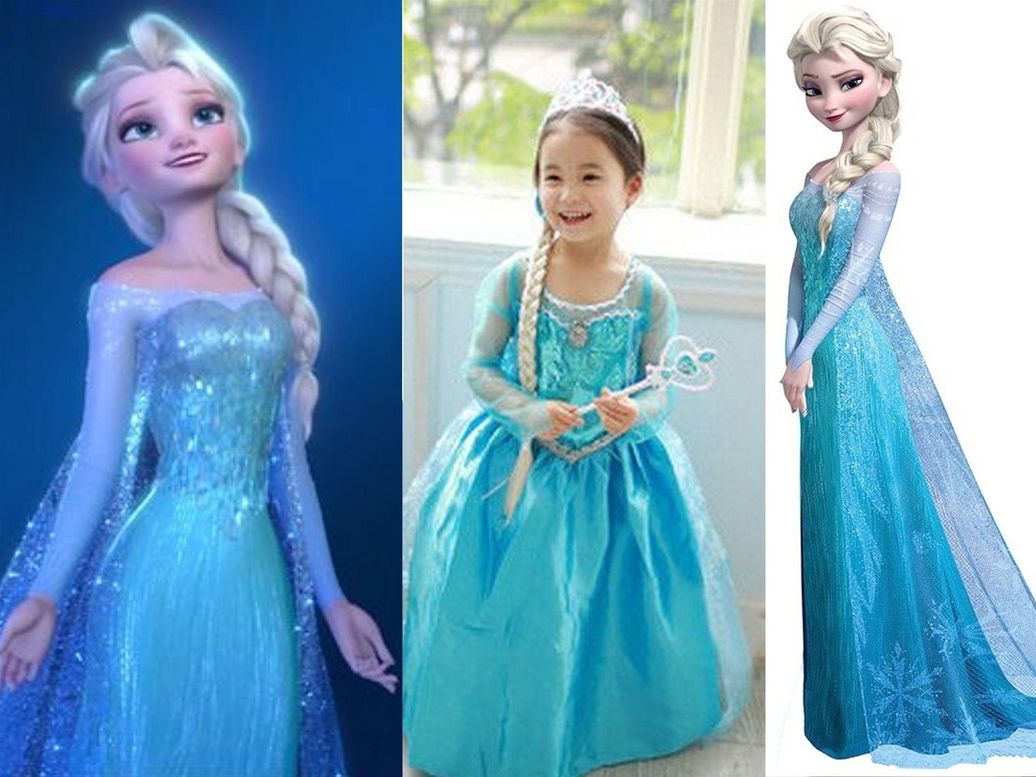 Frost Frozen Elsa klänning storlek ca 130 NY! Omgående leverans från  Sverige! 15d3fe0089f81