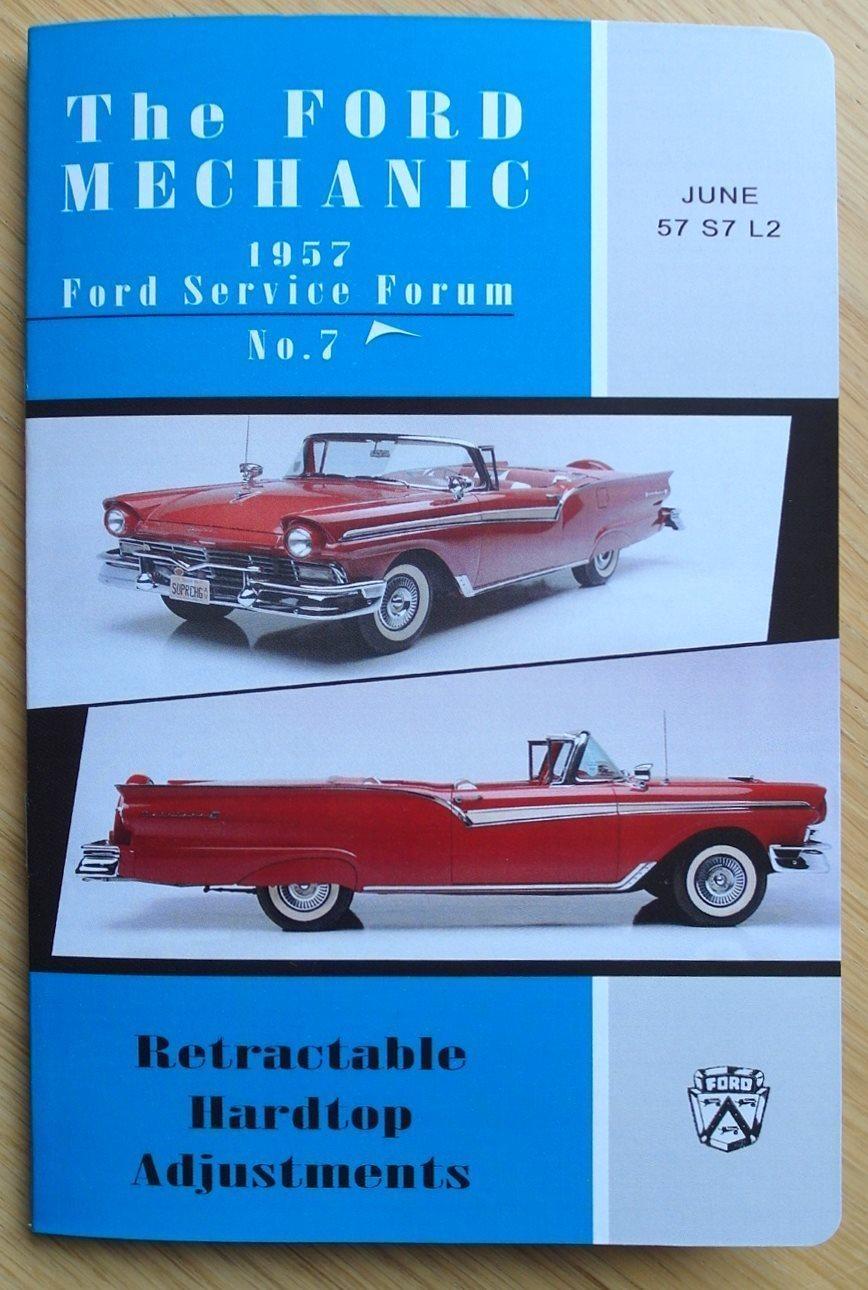 Justeringshandbok för Hardtop, Ford Fairlane Skyliner 1957