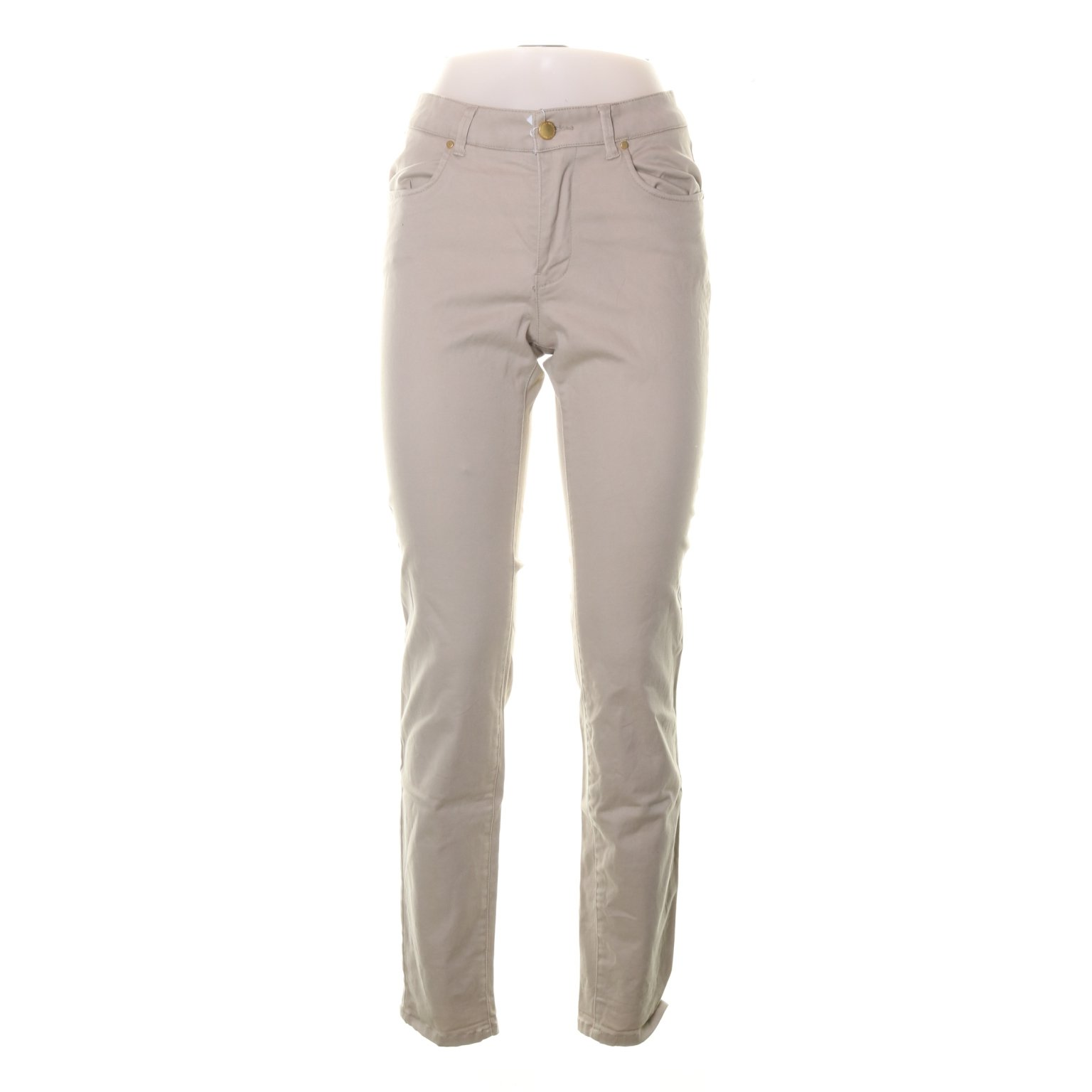 Holly & Whyte by Lindex, Jeans, Strl: 38, Beige, Bomull/Elastan/Polyester