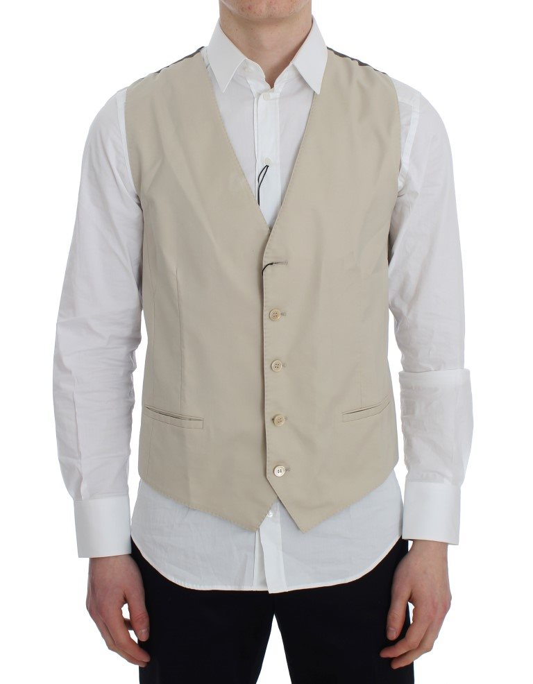Dolce & Gabbana - Beige Cotton Stretch Vest