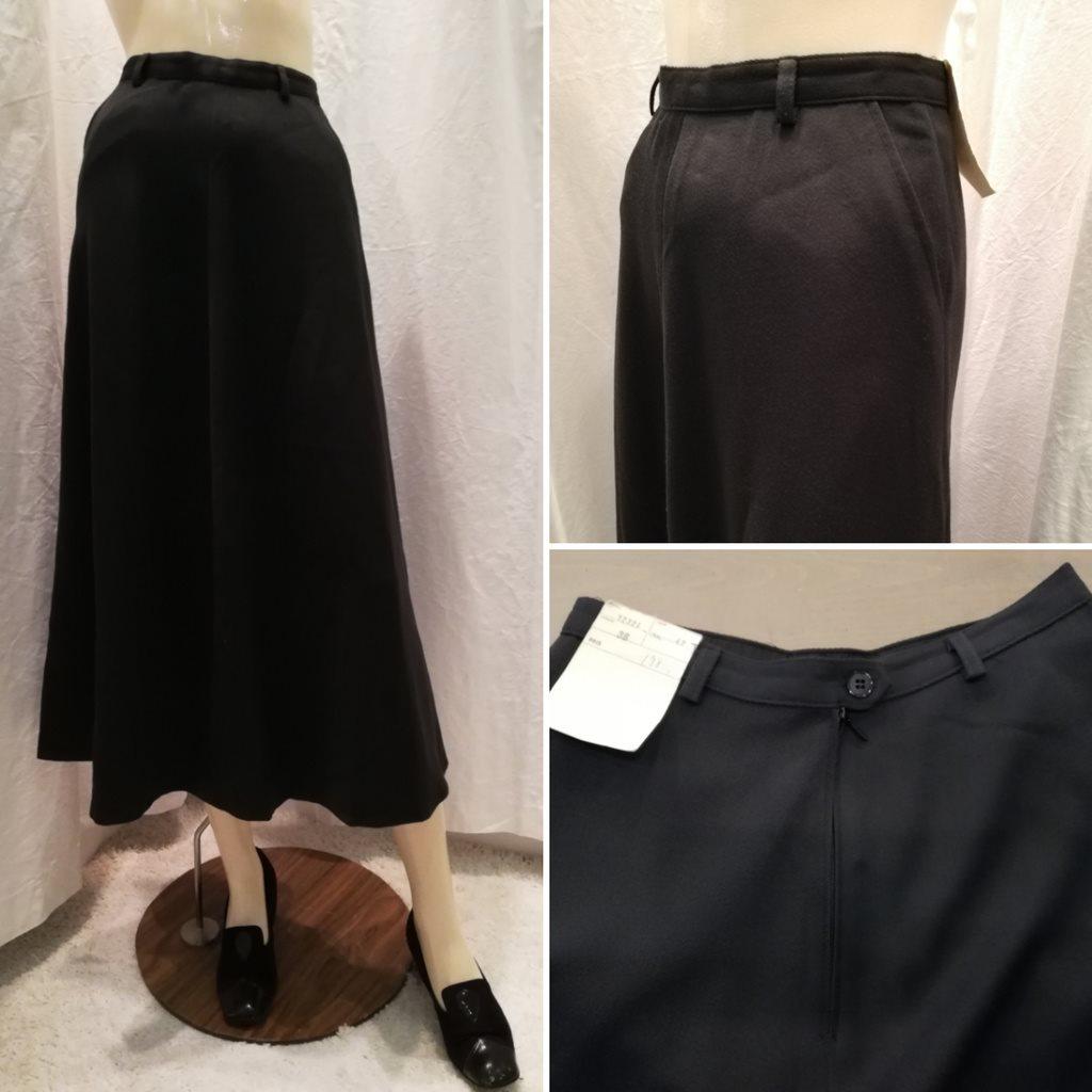 367f596e02dd Retro 80-tal deadstock/oanvänd kjol deadstock-oanvänd svart gabardin  klockad ...