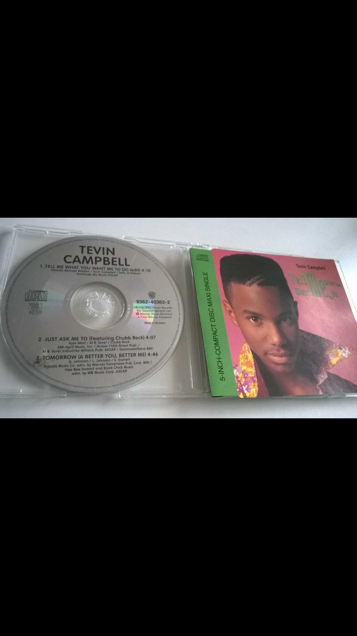 Tevin Campbell - Tell Me What You Want Me To Do, CD, Single