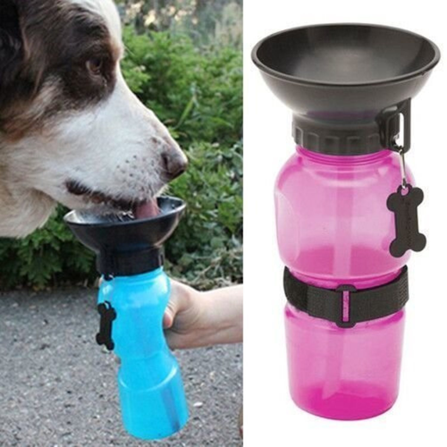 Dog Feeding Water Bottle Outdoor Spor...