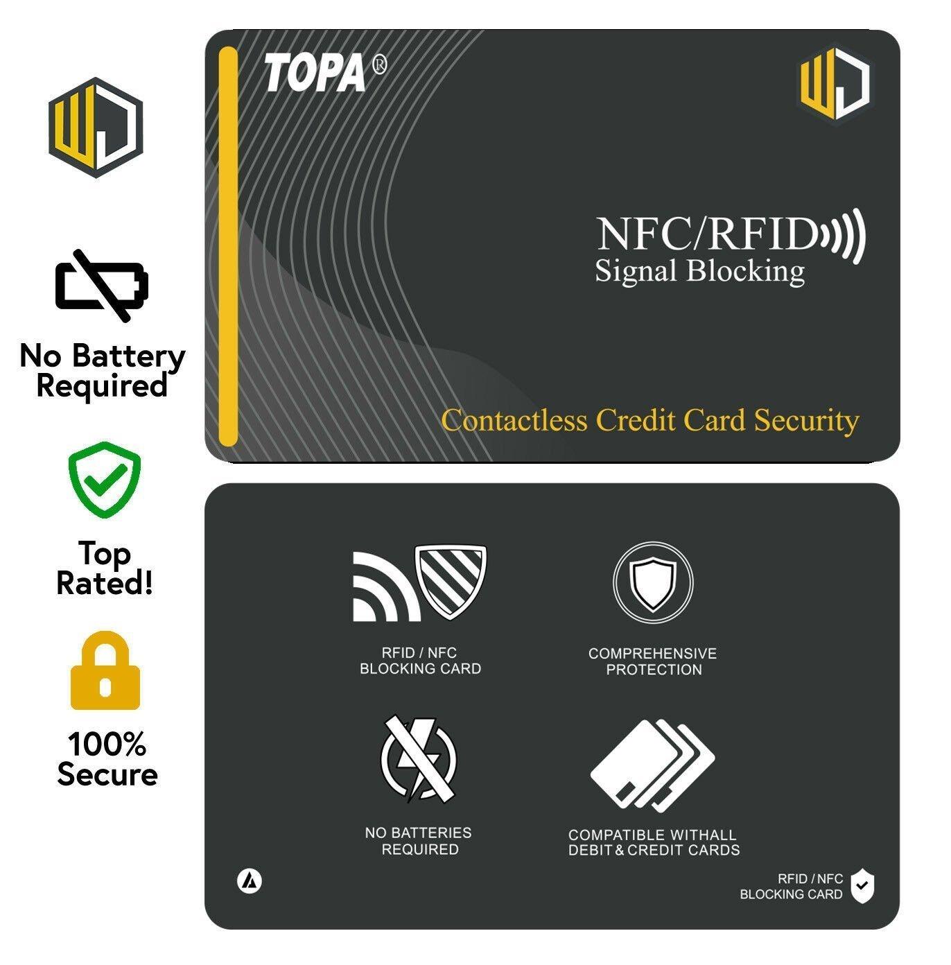 RFID NFC Signal Blocking Card Credit /& Debit Card Protector