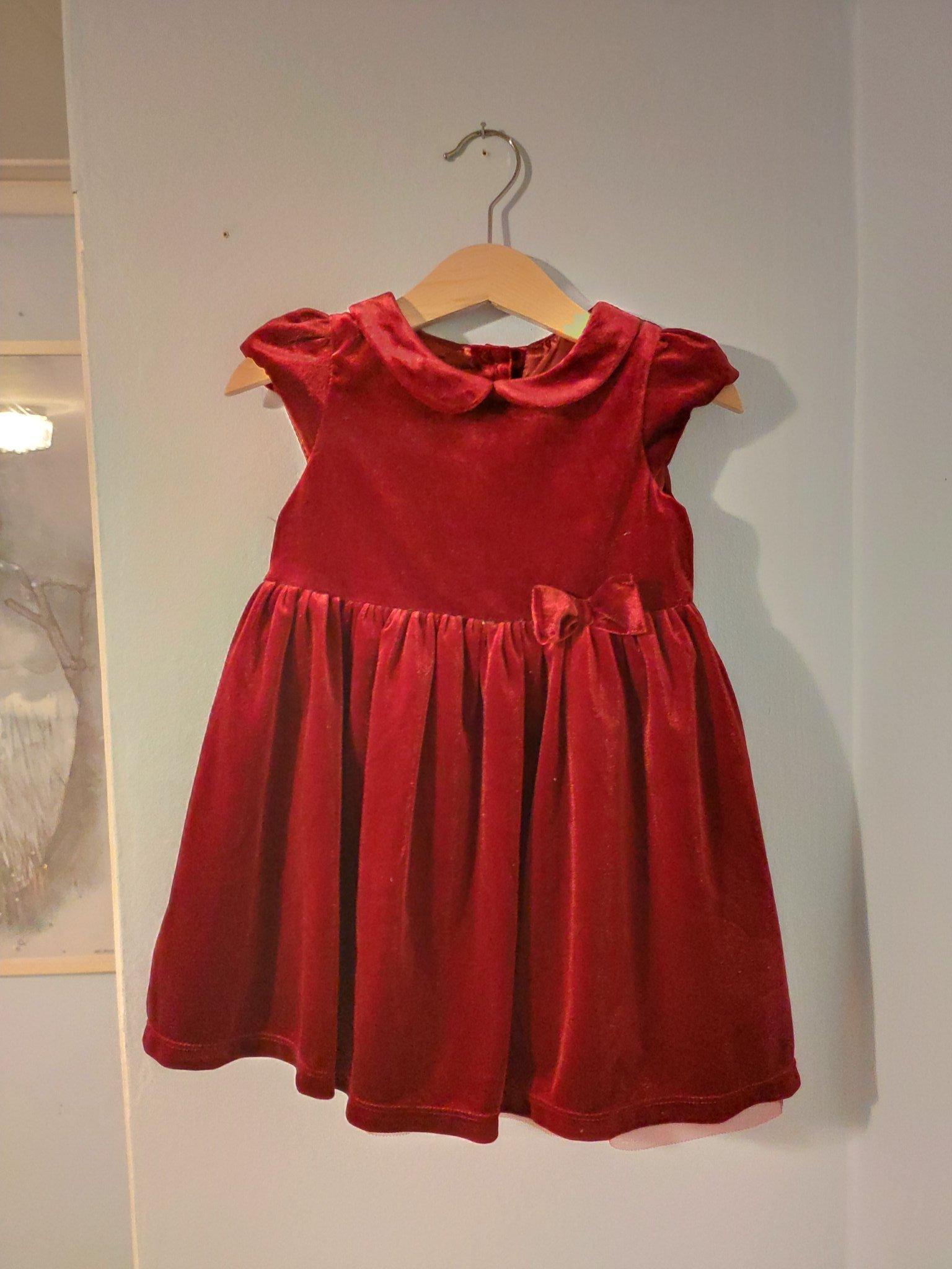 Klänning röd sammet stl 92 Lindex jul (422670636) ᐈ Köp på